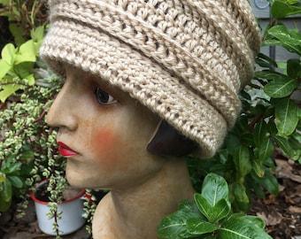 Made to Order: Penelope Crochet Cloche Beanie, Crochet Beanie, Vintage Crochet Hat, Roaring 20's Style Cap, Vintage Hat