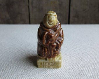 Vintage Wade Brother Peter, Friar Series, Monk, 1983, KP Foods, Wade Character Figure, Wade Porcelain Figurine, Whimsies, Wade Brother Peter