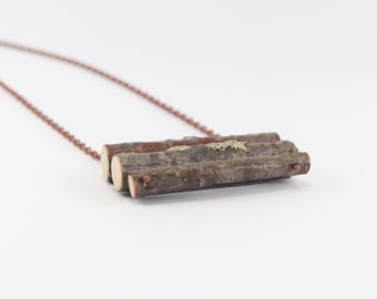 Natural birch wood pendant. Eco friendly. Handmade for nature lovers.