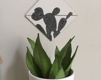 Frond Painting 004 Prickly Pear Silhouette