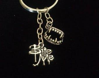 Vampire Bite me Key Chain