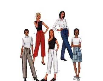 Walking Shorts and Pants, Women's Sewing Pattern Misses Size 8-10-12 Waist 24-25-26 1/2 Uncut Butterick 3396