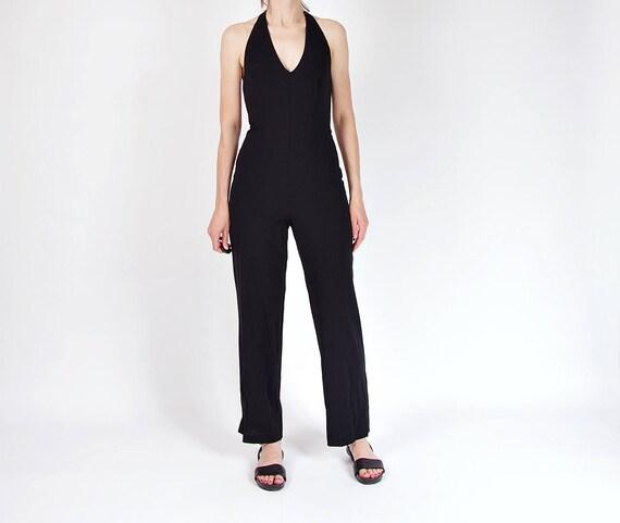 SALE - Vintage minimalist lightweight wool jumpsuit / size M