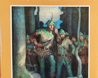 1961 Robin Hood - Paul Creswick - Illustrator - N.C. Wyeth - Original Dust Jacket