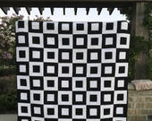 Black and White Quilt | Bold Geometric Quilt | Modern Quilt | Handmade Quilt | Lap Quilt | Wall Hanging