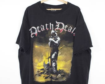 frank frazetta death dealer shirt - vintage - heavy metal magazine fantasy art