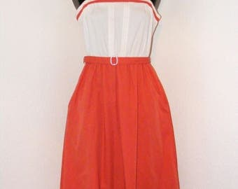 Vintage 1970s Summer dress with matching belt