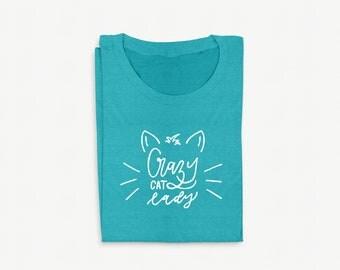 Transfert thermocollant - Crazy cat Lady