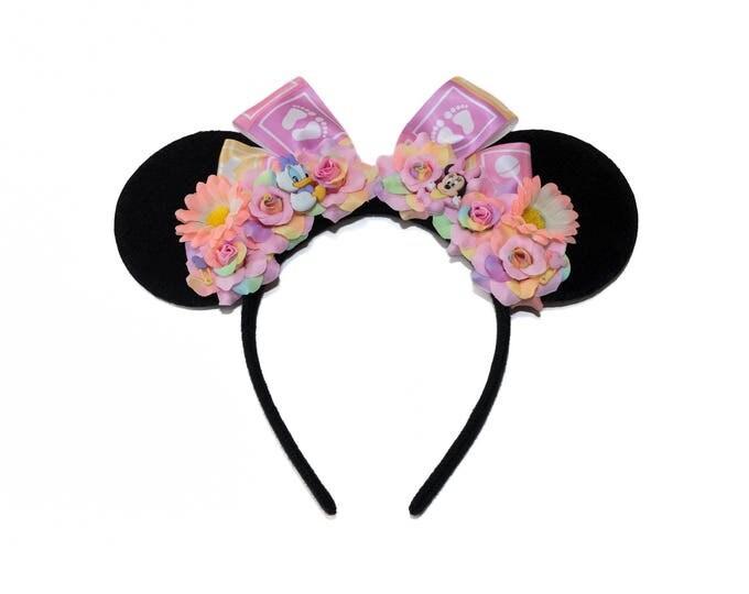 Baby Minnie Daisy Mouse Ears Headband