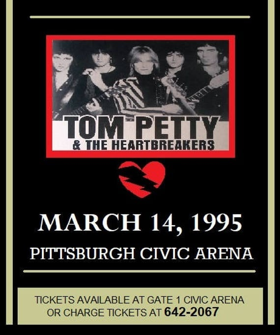 Image result for tom petty and the heartbreakers 1995 tour