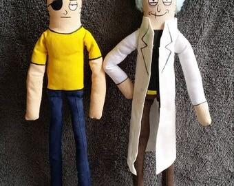 Evil Rick and Morty Custom Poseable Dolls