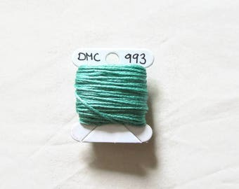 Mint green embroidery floss,  DMC 993, stranded embroidery thread cross stitch supplies, stranded cotton