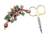 Acorn Scissor Fob, Fall Handbag Charm, Maple Leaf Planner Charm, Autumn Clip On Charm, Key Ring Charm, Midori Charm, Gift for Knitter
