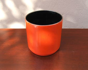 Vintage Planter Plant Pot from the 1960s/70s with red glaze - West German Pottery - Mid Century Modern - Fat Lava era