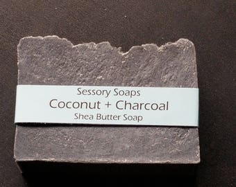 Coconut and Charcoal Shea Butter Bar Soap