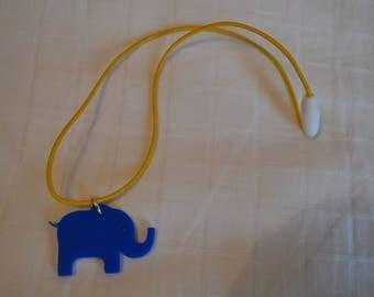 Children's Blue Elephant Pendant Necklace