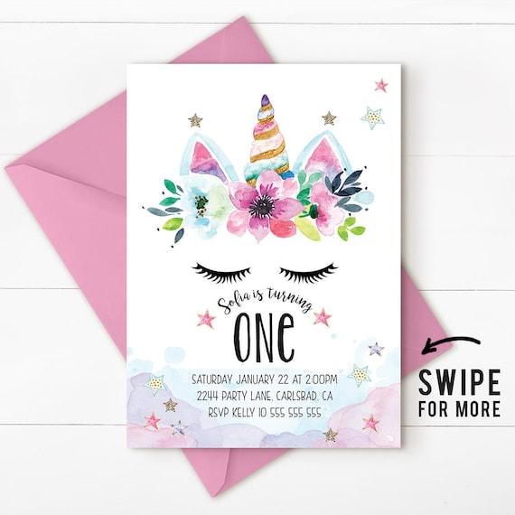 Unicorn birthday invitation unicorn invitation magical invitation