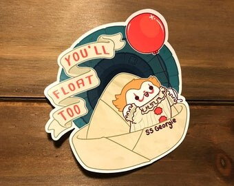 You'll Float Too Kawaii Pennywise It Sticker