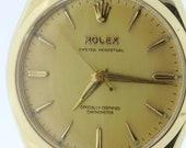 1956 Rolex Oyster Perpetual Wrist Watch 14K