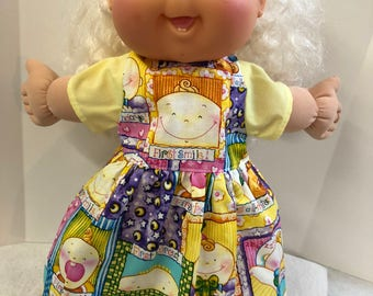"""Cabbage Patch KIDs 14 inch BABY Doll Clothes, """"Baby's 1st"""" SMILE, Birthday, Tooth - Dress, 14 inch CPKKids BABY Doll, Celebrate Milestones!"""