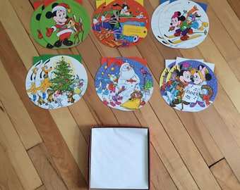 Vintage 1970s Walt Disney Mickey Mouse Children's Christmas Holiday Cards!