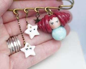 pin doll Sue and her stars