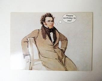 FRANZ SCHUBERT Composer Music Postcard