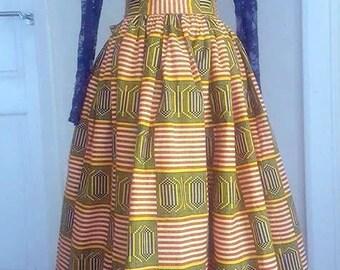 Kente Print Maxi/Midi skirt