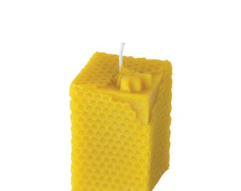 Beeswax candle - honeycomb - 100% beeswax by our very own apiaries