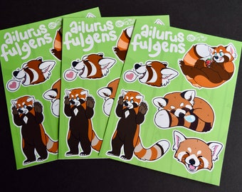 Red Panda Sticker Sheet