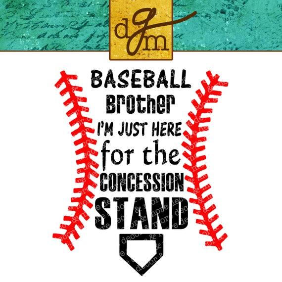 Baseball Brother Svg Baseball Svg Baseball Concession Stand