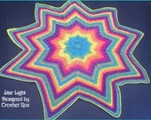 CROCHET PATTERN Star Light 9 point Jacobs Ladder blanket