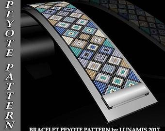 Peyote bracelet pattern, odd count, peyote pattern, stitch pattern, pdf file, pdf pattern, #109P