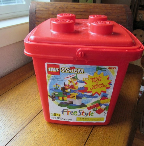Lego System Free Style 320 Piece Set In Original Red Plastic Box Ages 5-12 #4055