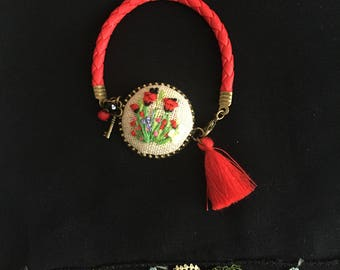 Embroidery bracelet. Free shipping US only.