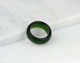Mens Jade Ring, Green Jade Ring, Nephrite Jade Ring, Mens Jade Jewelry, Jade Mens Ring