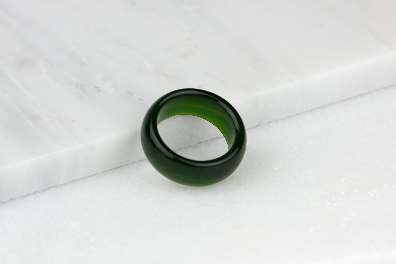 Bague en jade pour homme