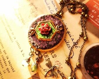 The Countess - Victorian, rose Quartz, Amazonite-Orchid-