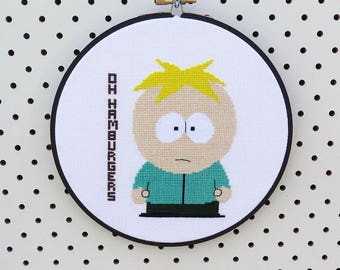 South Park Butters Cross Stitch