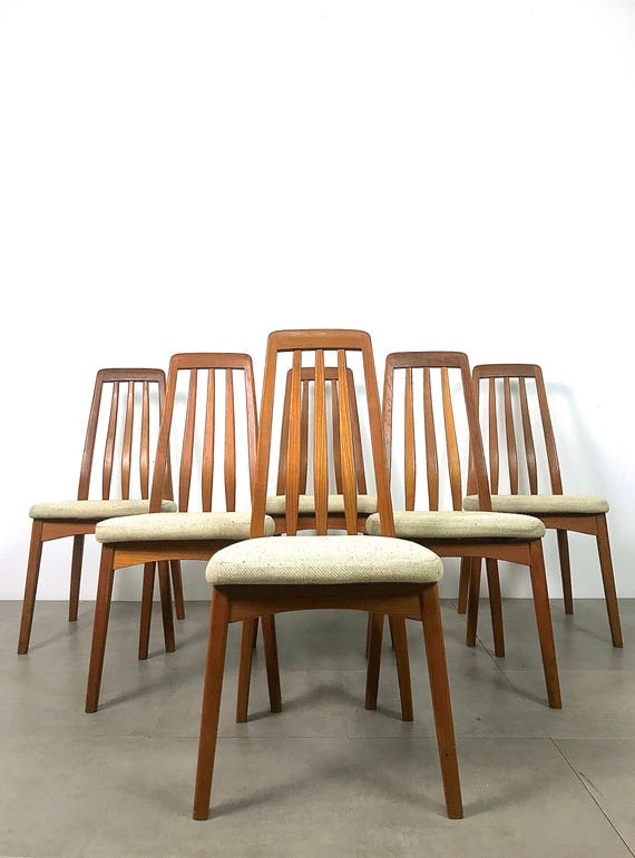Set Of Six Teak Dining Chairs By Benny Linden 1970's
