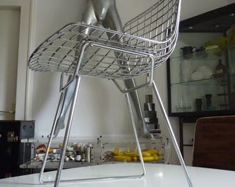 Knoll International Harry Bertoia wire side chair 90s