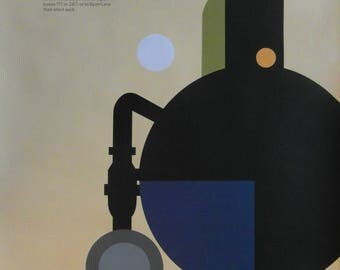 Original 1980s Tom Eckersley 'London Transport Collection' Advertising Poster