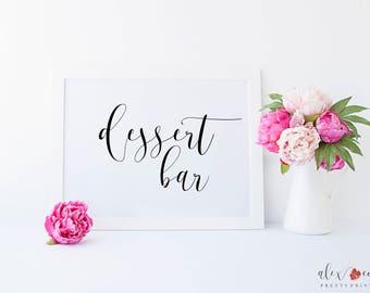 Printable Dessert Bar Sign. Dessert Bar Printable. Dessert Bar Sign. Dessert Table Sign. Dessert Table Decor. Wedding Dessert Sign.