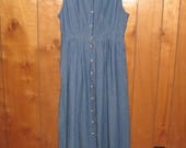 Willow Ridge Denim Jumper, Size 12, Button Front Jumper, FREE SHIPPING