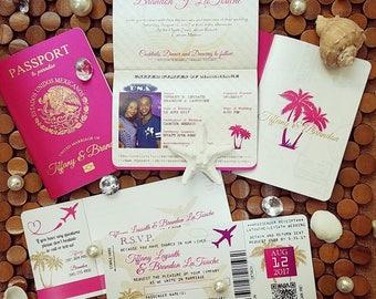 Vanessas Destination Wedding Invitations
