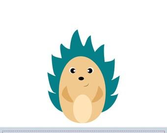 Hedgehog Applique Pattern, Hedgehog Applique Template, Animals, Woodland, DIY, Children, Instant Download Digital Pattern
