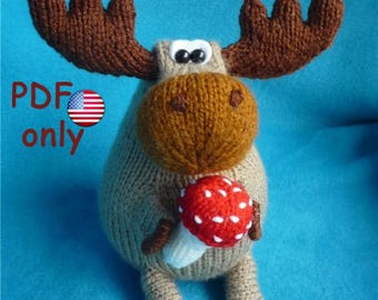 Knitting pattern - Moose amigurumi animal