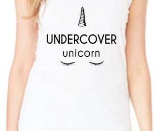 Undercover Unicorn Racerback Tank