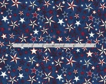 Patriotic Star Fabric, Pride & Glory, RJR Dan Morris 2067, Patriotic Fabric, 4th of July Fabric, Patriotic Quilt Fabric, Cotton
