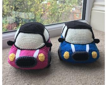 Mini Cooper Soft Toy Crochet Pattern